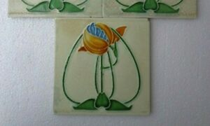 Old Vintage Rare Art Majolica Ceramic Tiles Made In England 1 Pc Available 6x6