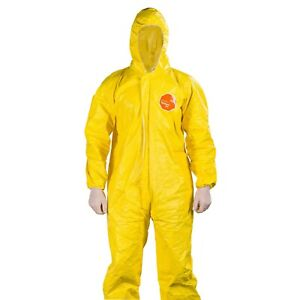 Dupont Tychem 2000 Qc127s Cehmical Resistant Coverall Size Medium