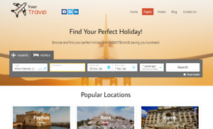 Travel Website Earn Hundreds Per Sale Free Domain Easy To Manage