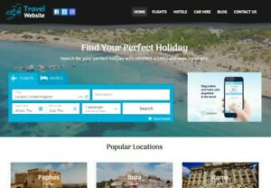 Travel Agency Website Earn Hundreds Per Sale Free Domain Easy To Manage
