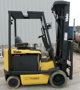 Yale Model Erc050gh 2009 5000 Lbs Capacity Great 4 Wheel Electric Forklift