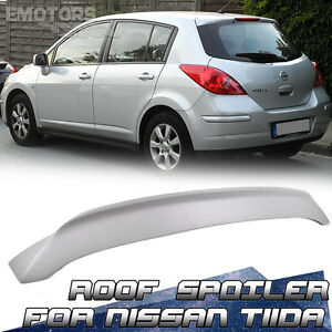 Fit For Nissan Tiida Hatchback T Style Roof Spoiler 2007 2012 Facelift Painted
