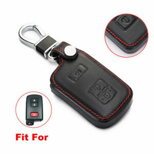 Leather Case Cover Holder Fit For Toyota Prius Camry 4runner Remote Smart Key