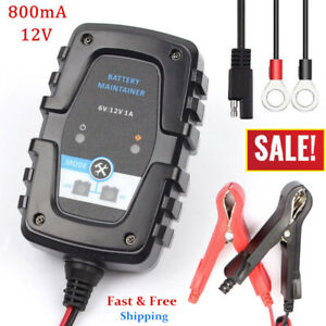 12v 800ma Motorcycle Atv Boat Car Automatic Battery Charger Maintainer Tender