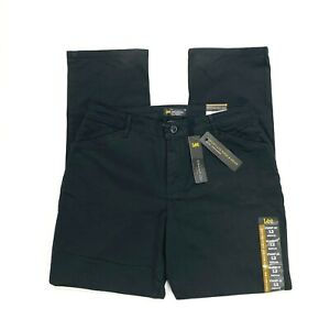 Lee All Day women#x27;s black relaxed fit pant NEW defect size 12 med straight leg $7.97