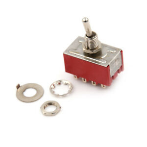 Mts 402 6a 125vac 2a 25chac 12 Pin 4pdt On on 2 Position Mini Toggle Swi j