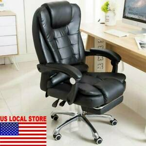 Executive Computer Office Chair Swivel Leather Recliner Gaming Chairs Desk Seat