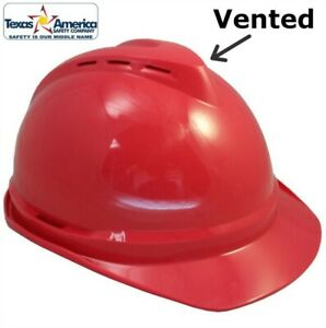Msa Advance Vented Cap Style Hard Hat Red