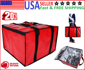 Insulated Pizza Delivery Bag 20x20x14 inch Commercial Grade Food Delivery Bag