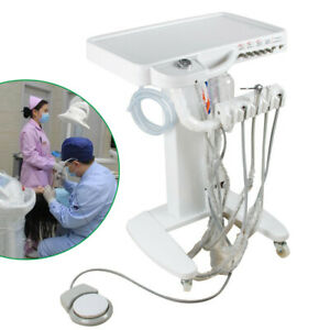 Dental Lab Delivery Mobile Cart 4 Holes Unit Treatment Equipment 3 Way 110v