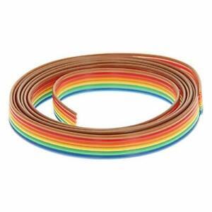 Fielect 6pin Flat Ribbon Cable Rainbow Idc Wire 1 27mm Pitch 100cm Long 1pcs