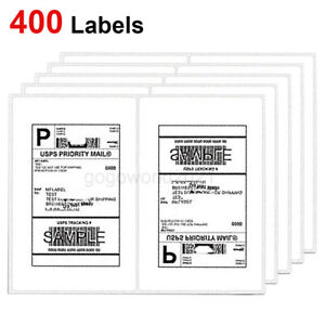 400 Shipping Labels 8 5 x5 5 Rounded Corner Self Adhesive 2 Per Sheet Usps Ups
