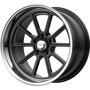 18x8 Black Wheel American Racing Vintage Draft Vn510 5x4 5 0