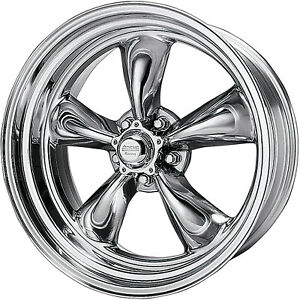 4 17x8 Polished American Racing Vintage Torq Thrust Ii Wheel 5x5 5x127 11