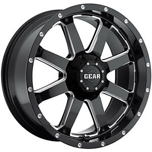 4 20x10 Black Big Block 6x135 6x5 5 19 Rims Ridge Grappler 35 Tires