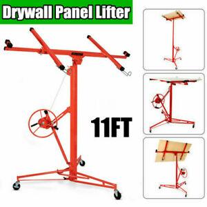 11 150lbs Drywall Rolling Lifter Panel Hoist Jack Caster Construction Tool