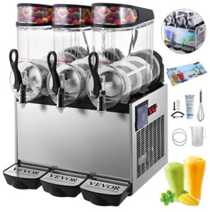 Vevor 12lx3 Commercial Slushy Machine Frozen Drink Machine 900w Margarita Maker
