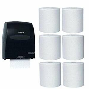 Kimberly clark Hard Roll Paper Towel Dispenser With 6 pack Refill Bundle