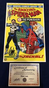 Amazing Spider Man 129 Litho Signed by Stan Lee with COA John Romita Art LIMITED $225.95