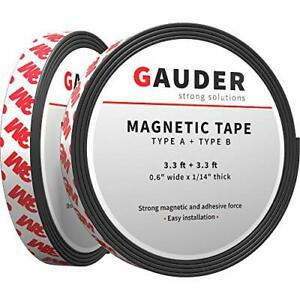 Self Adhesive Magnet A b Magnetic Roll Strips Rubber Tape For Fly Mosquito Net