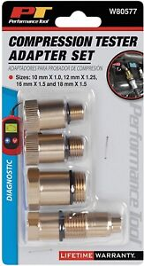 Performance Tool Compression Tester Spark Plug Adapters W80577