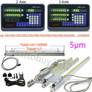 2 3 Axis Digital Readout Ttl 5um Linear Glass Scale Dro Display Cnc Milling
