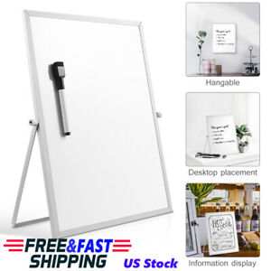 Magnetic Dry Erase Board Double Sided White Board W Stand For Home School
