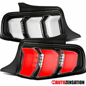 For 2010 2012 Ford Mustang Black Led Sequential Signal Tail Lights Lamps 2011