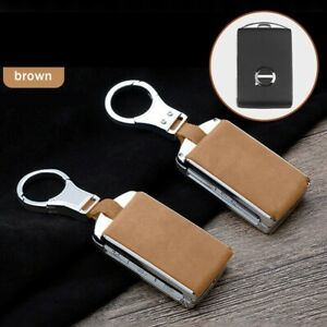 1 set Suede Metal Car Key Fob Cover Case For Volvo Xc40 Xc60 S90 V90 2017 2018