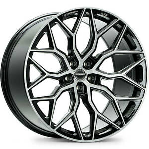 4 Staggered 19x8 5 19x9 5 Vossen Hf2 Machined Black 5x112 38 35 Wheels Rims
