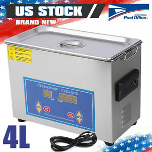 Digital Ultrasonic Cleaning Tank Ultra Sonic Bath Cleaner Timer Heated Efficient