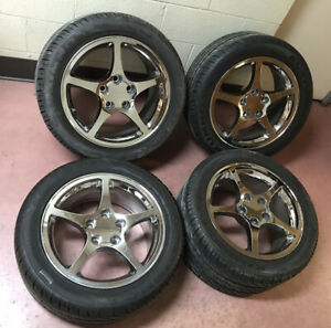 4 Wheels With Tires Off A 1995 Chevy Corvette Tires Have Less Than 500 Miles