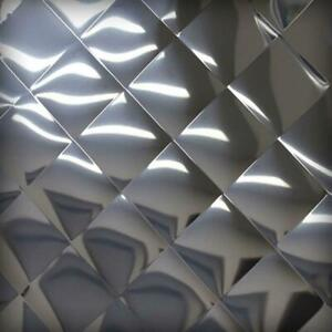 304 Quilted Polished Stainless Steel Sheet 20 Ga 035 X 12 X 24