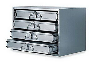 Metal 24 Hole Storage Tray Bolts Nuts Cabinet Sliding Rack W Four Drawers New