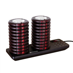 Restaurant Wireless Paging System Queuing 20 coaster Pager For Clinic Food Truck