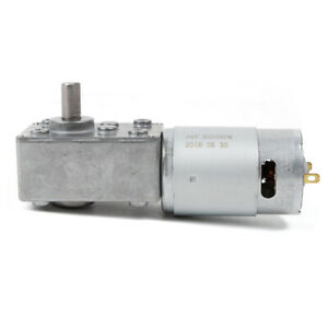 12v 5 10 rpm Electric Gear Motor High Torque Low Speed Worm Reversible For Bbq