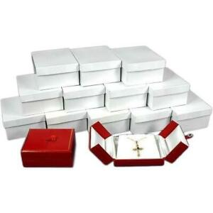 12 Red Pendant Gift Boxes W snap Lids 3 1 2