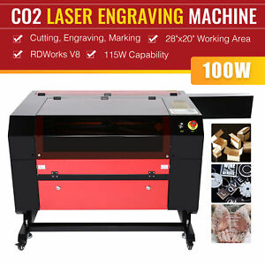 Omtech 28 x20 Bed 100w Co2 Laser Engraver Cutter Cutting Engraving Machine