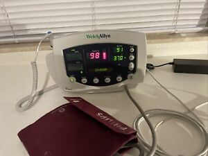 Welch Allyn Vital Sign Patient Monitor 300 Series Masimo Nibp Spo2 Temp