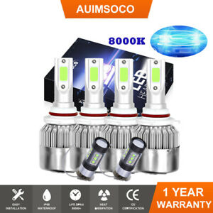 8000k 6pc Combo Led Headlight Bulbs Conversion For Hyundai Scoupe 1991 2002