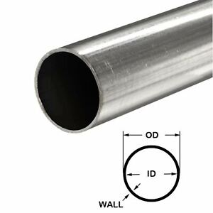 316 Stainless Steel Round Tube 2 Od X 0 065 Wall X 12 Long