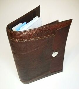 Piquadro Leather Agenda Planner Organizer Cover Brown Color Large Italy