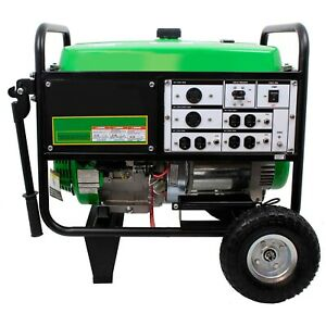 Portable Generator 7 5 Kw Gas Electric recoil 120 240 Volts 6 5 Tank