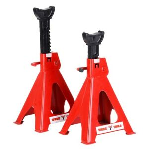 Set Of 6 Ton High Lift Jack Stands Pair Auto Garage Tools Us