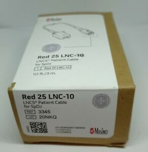 3345 Masimo Lncs Patient Cable Red 25 Lnc10 brand New