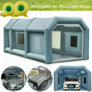26x15x10ft Inflatable Spray Booth Paint Tent Mobile Portable Workstation Cabin