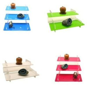 Acrylic Display Stand Retail Collectable Shelf 40 Perspex Colours 2 3 Tier