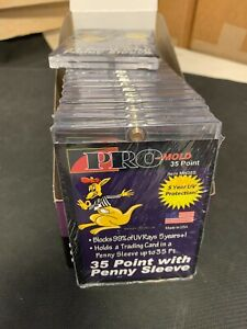 25 Count Box Pro mold 35pt Magnetic One Touch Card Holders Sleeved Card Mh35s