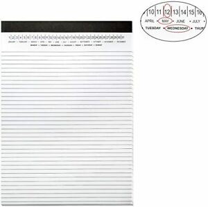 Legal Pads 8 5 X 11 With Date On Top Narrow Ruled White Note Pads College