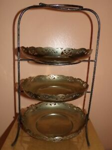 Victorian Sheffield Silver Plate Ep 3 Tier Afternoon Tea Cake Stand James Dixon